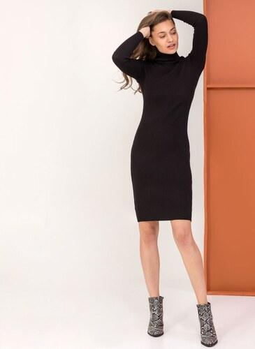 c4320e5907f9 The Fashion Project Ριπ εφαρμοστό φόρεμα με ζιβάγκο - Μαύρο - 06085002009