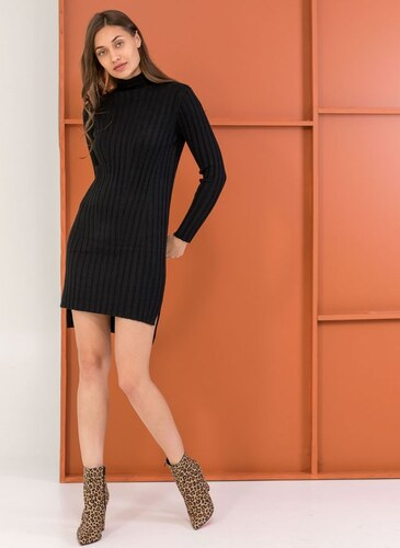 The Fashion Project Ριπ φόρεμα σε εφαρμοστή γραμμή - Μαύρο - 06048002009 d39419322de