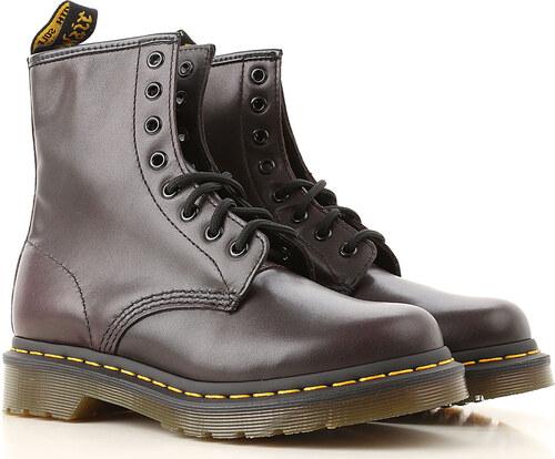 a33a9817611 Dr. Martens Μπότες για Γυναίκες, Μποτάκια Σε Έκπτωση, Σκούρο Μπορντώ, Δέρμα,