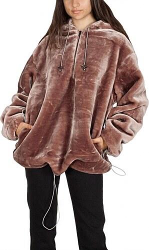 c830fca2f01 Story Of Lola oversized faux fur pullover ζακέτα με μισό φερμουάρ ...