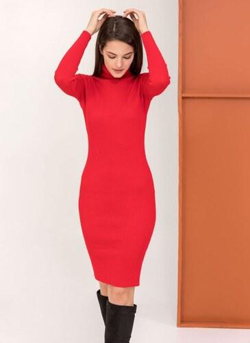 d92092bfd151 The Fashion Project Ριπ εφαρμοστό φόρεμα με ζιβάγκο - Κόκκινο - 009 ...