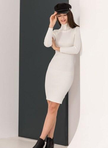 -25% The Fashion Project Ριπ εφαρμοστό φόρεμα με ζιβάγκο - Λευκό -  06085001009 cfaac48dea9