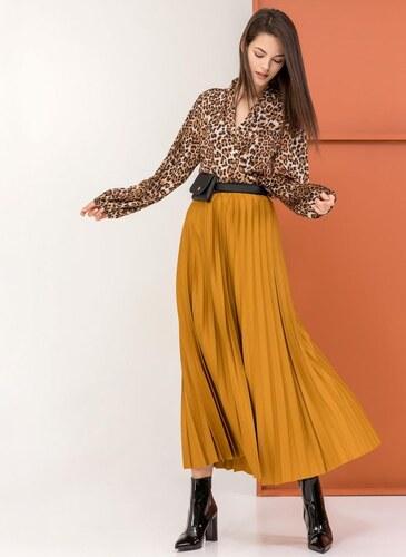 cf7d92854ec The Fashion Project Maxi πλισέ φούστα - Μουσταρδί - 06066056001 ...