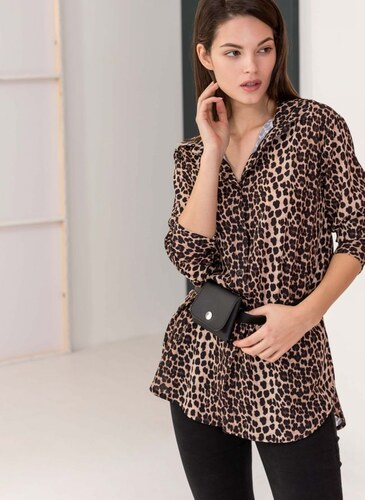 5aa15e113f80 The Fashion Project Πουκαμίσα με leopard print - Leopard - 06146032001