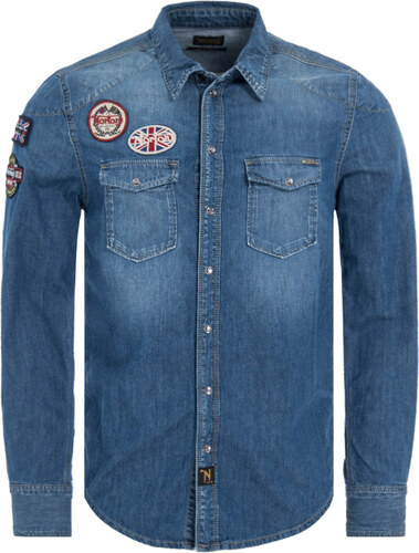 80f2a6e456 NORTON GRIP DENIM ΠΟΥΚΑΜΙΣΟ ΑΝΔΡΙΚΟ NM300004-000 (000 DENIM) - Glami.gr