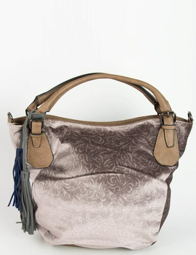 cf065c8ea23 Huxley & Grace Γυναικεία σαμπανιζέ οβάλ τσάντα ώμου με ανάγλυφο σχέδιο  273519F