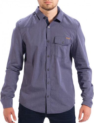 2916406757b8 Ανδρικό γαλάζιο καρέ πουκάμισο Slim fit CROPP - Glami.gr