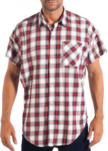 Ανδρικό Regular κοντομάνικο πουκάμισο RESERVED κόκκινο καρέ - Glami.gr 71e928629e0