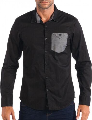 3de9b2e92c7a Ανδρικό μαύρο πουκάμισο CROPP - Glami.gr