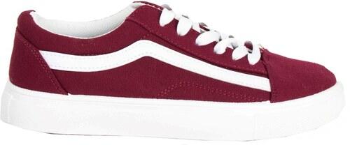 Huxley   Grace Γυναικεία μπορντό πάνινα Sneakers με διχρωμία M622Q ... d2f929f9bb8