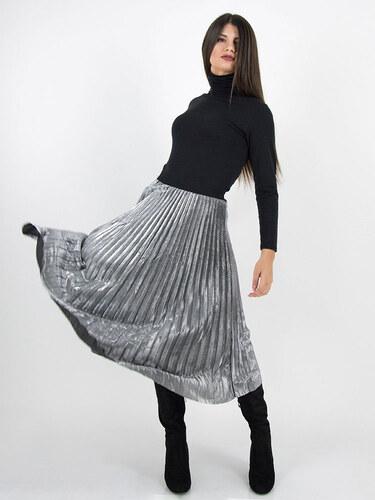style Πλισέ ασημι φούστα - Glami.gr 08ec6bc187b