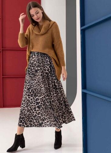 6ad7729d18d The Fashion Project Βελουτέ ψηλόμεση leopard φούστα - Leopard - 06189032001
