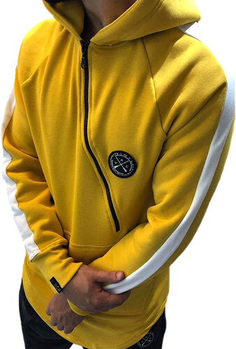 9cf718ce7ed0 VINYL ART CLOTHING VINYL ART CORE SWEATSHIRT STRIPE YELLOW - Glami.gr