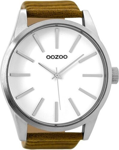 OOZOO Timepieces C9410 Ανδρικό Ρολόι με Καφέ Δερμάτινο Λουρί - Glami.gr aa16c7c6911