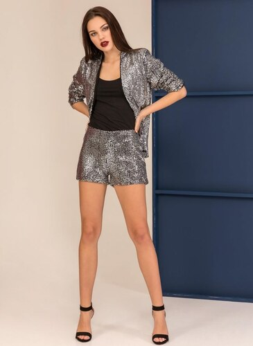 f19ab87214b5 The Fashion Project Σακάκι με παγιέτες σε ίσια γραμμή - Ασημί - 001 ...
