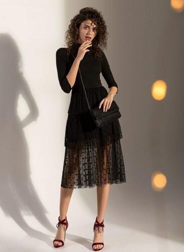 The Fashion Project Φόρεμα ριπ με πουά τούλι - Μαύρο - 001 - Glami.gr fcc6a8d6117