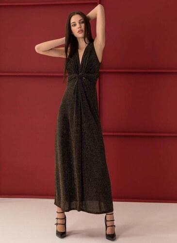 The Fashion Project Αμάνικο maxi γυαλιστερό φόρεμα - Χρυσό - 06366009001 752919022bf