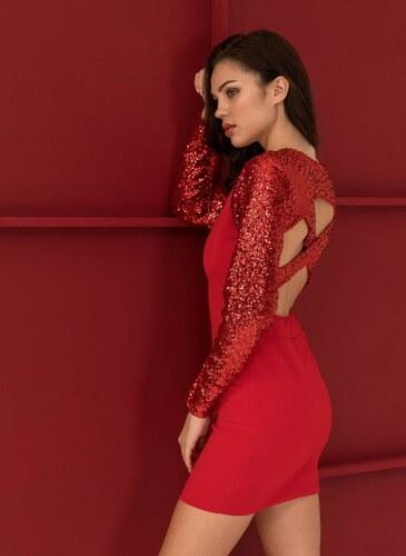 60d01c67424d The Fashion Project Βραδινό φόρεμα με λεπτομέρεια παγιέτες - Κόκκινο -  06303014001