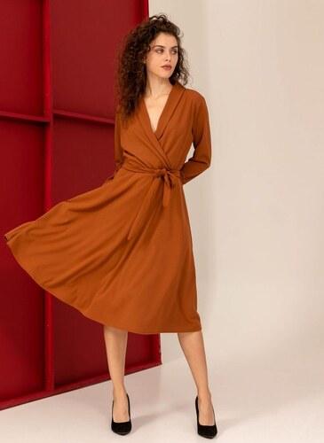 83f4ac1f4ea3 The Fashion Project Midi φόρεμα κρουαζέ σε άλφα γραμμή - Ταμπά - 06230007001