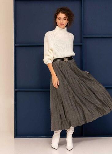 The Fashion Project Πλισέ φούστα από glitter ύφασμα - Γκρι - 06248038001 b8b662290b7