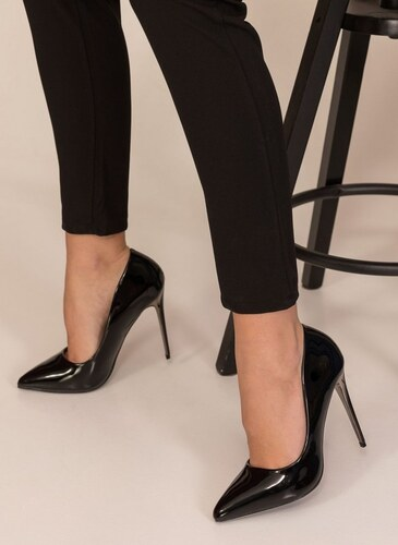 The Fashion Project Λουστρίνι γόβες με στιλέτο τακούνι - Μαύρο - 003 ... 079321a56b8