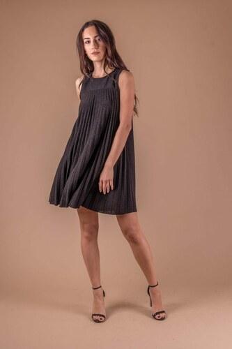 b860b2ab514c endio Μαύρο πλισέ αμάνικο φόρεμα - Glami.gr