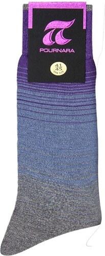 ΠΟΥΡΝΑΡΑ Πουρνάρα Ανδρικές Κάλτσες Σχέδιο Ριγέ Τριχρωμία Γαλάζιο ... 4a2cf6282df