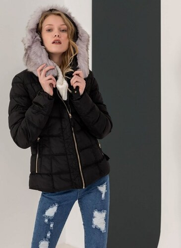 -50% The Fashion Project Μεσάτο καπιτονέ μπουφάν με κουκούλα - Μαύρο -  06425002004 b41083b5e81