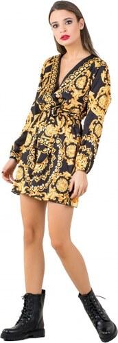 ced13d509255 DeCoro F3486 Φόρεμα Κρουαζέ με Ζωνάκι - ΜΑΥΡΟ - 10 - Glami.gr