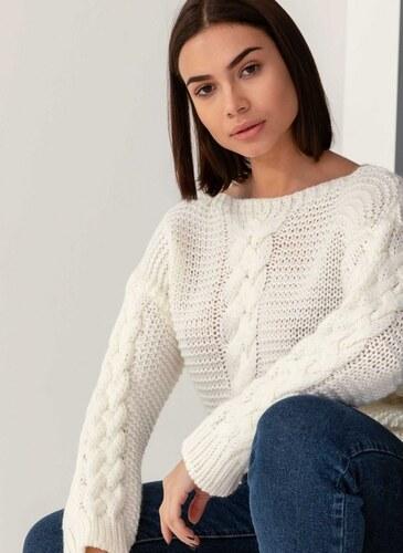 The Fashion Project Πουλόβερ με σχέδιο κοτσίδες - Λευκό - 001 - Glami.gr 401d5fbf2bd
