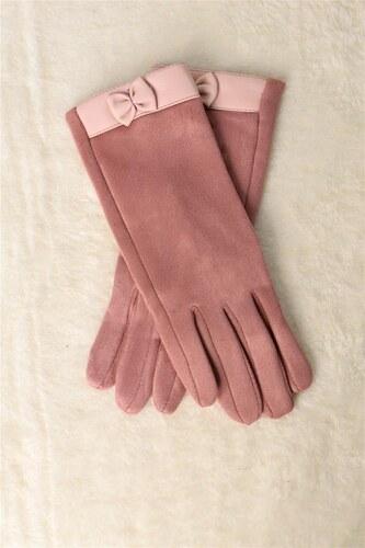 Potre Γυναικεία βελούδινα γάντια με φιογκάκι - Glami.gr 0bd4ca0dca7