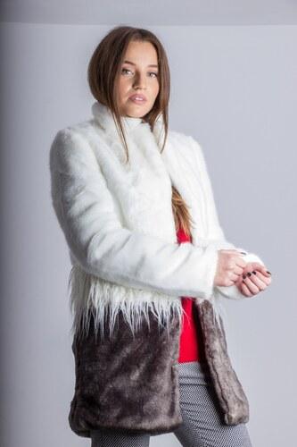 c59558ec3417 TOI MOI Γυναικείο παλτό γούνα ΛΕΥΚΟ - Glami.gr