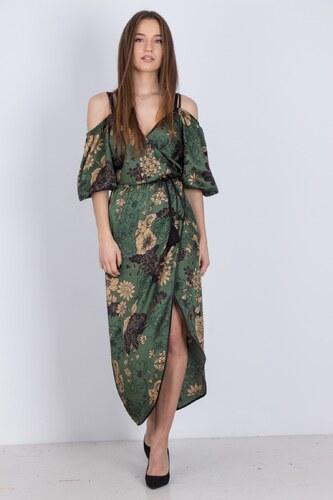 b85a9a325f3e DE JAVU Γυναικείο φόρεμα κρουαζέ και έξω ώμους ΠΡΑΣΙΝΟ - Glami.gr