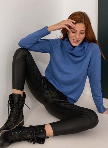 0b3087a820e2 The Fashion Project Πλεκτό με μεγάλο ζιβάγκο - Μπλε - 06338037009 ...