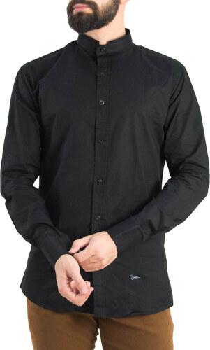 b578955b63f0 Ανδρικό μαύρο πουκάμισο Ben Tailor Mao γιακάς 373320W - Glami.gr