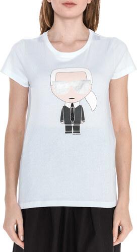 1e4d4cb9977e Women Karl Lagerfeld Ikonik T-shirt White - Glami.gr