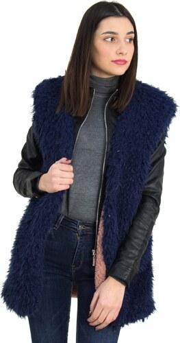Γυναικείο μπλε αμάνικο γουνάκι φλις επένδυση Benissimo 61913W - Glami.gr 72e8da336a9
