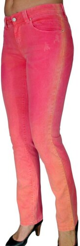 19cba5b2d5ad SARAH LAWRENCE Κοραλλί ψιλοκάβαλο skinny πετροπλυμένο παντελόνι ...