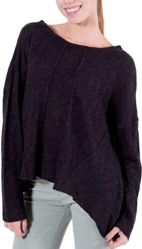 ALE Γυναικεία ανθρακί ασύμμετρη πλεκτή μπλούζα-πουλόβερ - Glami.gr d76c9312ae7