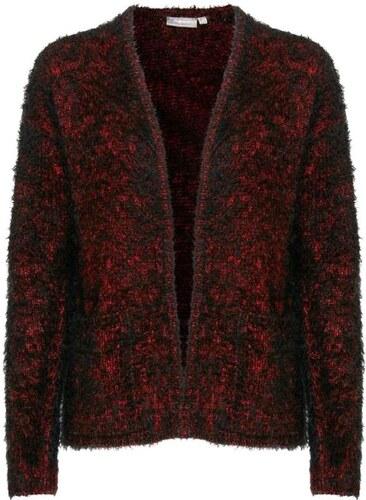 7e1f9abdf7a FRANSA Γυναικεία μοχέρ ζακέτα, μαύρο-κόκκινο
