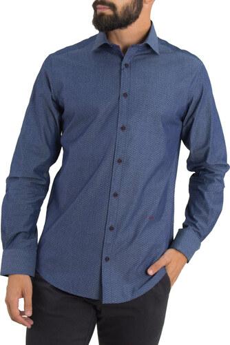 Ανδρικό μπλε πουκάμισο με ταμπά διχρωμία Ben Tailor 0088 - Glami.gr f0ddfcb2f7a