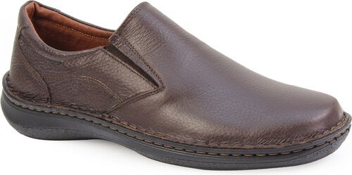 InShoes Ανδρικά δερμάτινα loafers με περιμετρικά γαζιά Καφέ - Glami.gr fdc1ecb23b2