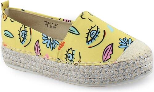 8b9abf96931 InShoes Γυναικείες εσπαντρίγιες με πολύχρωμα σχέδια Κίτρινο - Glami.gr