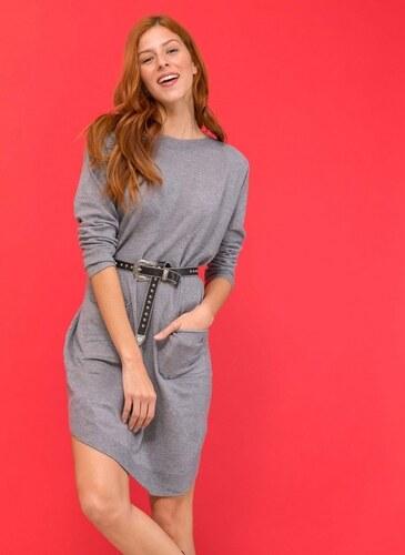 -50% The Fashion Project Midi φόρεμα με σχέδιο κουμπιά στην πλάτη - Γκρι -  05975038010 44b4c8a1e7e