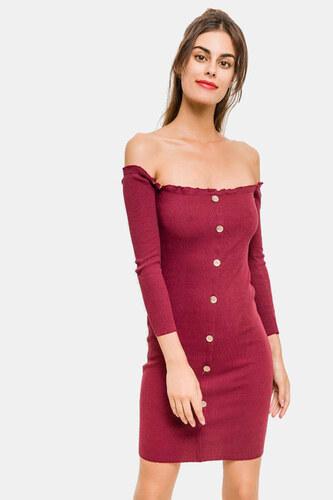 Φόρεμα Ελαστικό Σε Μπορντό 140238 - Glami.gr ab2598415c0