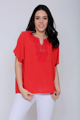 379cc12a56d Μπλούζα Φαρδιά Σε Κόκκινο 136459 - Glami.gr