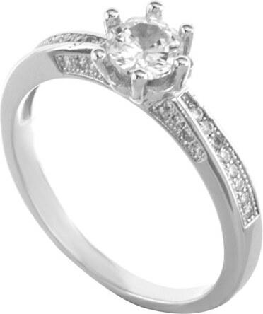 Paraxenies Μονόπετρο δαχτυλίδι από ασήμι με πέτρες ζιργκόν - Glami.gr 91924ffa9bc