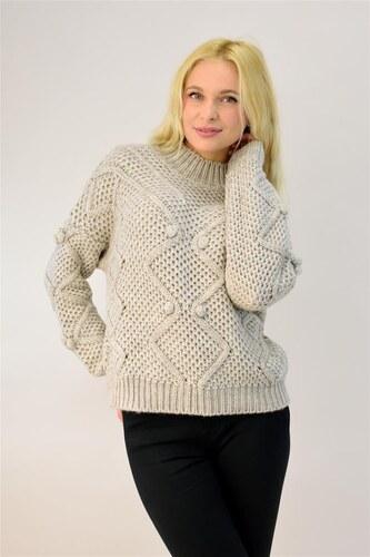fe8093d6b7c6 Potre Γυναικείο πλεκτό πουλόβερ με πον πον - Glami.gr
