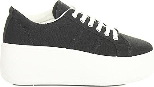 Luigi Sneakers με Πλατφόρμα Πάνινα - Μαύρο - 002 - Glami.gr f17ddc8a953