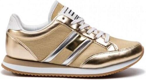 Tommy Hilfiger Casual Retro Χρυσά Γυναικεία Sneakers EN0EN00413 Light Gold  715 Tommy Hilfiger EN0EN00413 Light Gold 1be89020eba